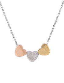 Elegant Multi-color Heart Shape Decorated Necklace