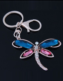Fashion Pink+blue Butterfly Shape Decorated Keychain