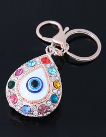 Fashion Multi-color Eye Shape Decorated Keychaon
