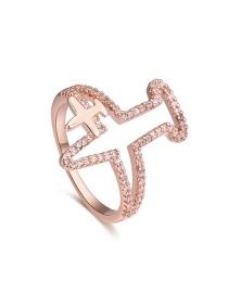 Fashion Gold Color Aircraft Shape Decorated Rings