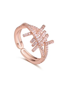 Fashion Gold Color Hollow Out Shape Decorated Open Rings