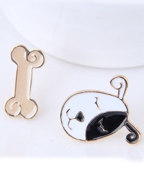 Lovely Black Dog&bone Shape Decorated Earrings