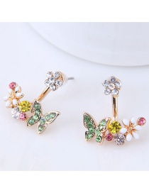 Elegant Multi-color Butterfly Shape Decorated Earrings