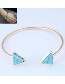 Fashion Blue Triangle Shape Decorated Bracelet