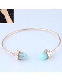 Fashion Light Blue Pure Color Decorated Bracelet