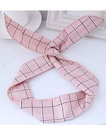 Fashion Pink Square Shape Pattern Decorated Hair Band