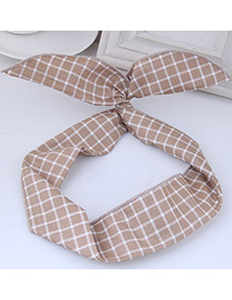 Elegant Light Khaki Rabbit Ears Shape Decorated Hair Band