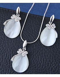 Fashion Silver Color Waterdrop Shape Decorated Jewelry Sets
