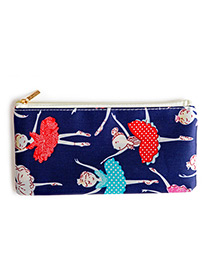 Fashion Red+blue+sapphire Blue Girls Pattern Decorated Cosmetic Bag
