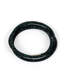 Fashion Dark Green Pure Color Decorated Bracelet