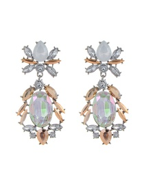 Fashion Champagne Geometry Decorated Earrings