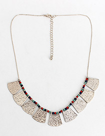 Fashion Silver Color Irregular Shape Decorated Simple Necklace