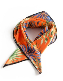 Trendy Multi-color Maple Leaf Pattern Decorated Simple Scarf