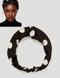 Trendy Black Dots Pattern Decorated Simple Hair Band