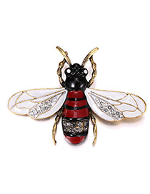 Trendy Antique Gold Insect Shape Decorated Simple Brooch