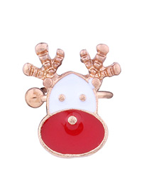 Lovely Red+white Deer Shape Decorated Ear Clip