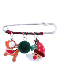Fashion Multi-color Christmas Element Decorated Brooch