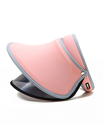 Fashion Dark Pink Pure Color Decorated Sunscreen Hat(adjustable)