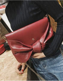 Fashion Red Bowknot Shape Decorated Shoulder Bag