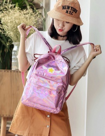 Lovely Pink Cartoon Pattern Decorated Simple Backpack