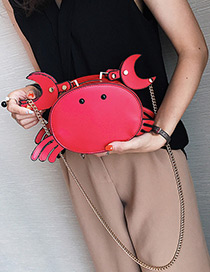 Lovely Red Crab Shape Decorated Bag