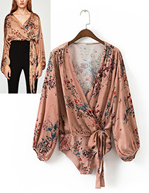 Sexy Champagne Flower Shape Decorated Jumpsuits