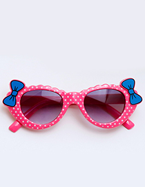 Lovely Plum-red Bowknot Shape Decorated Children Sunglasses