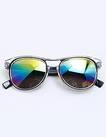 Fashion Black Color-matching Decorated Children Sunglasses