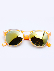 Fashion Orange Color-matching Decorated Children Sunglasses