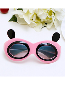 Lovely Pink Panda Shape Decorated Children Sunglasses