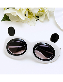 Lovely White Panda Shape Decorated Children Sunglasses