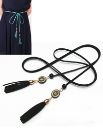 Bohemia Black Tassel Decorated Belt