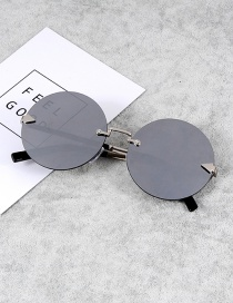 Retro Dark Gray Pure Color Decorated Sunglasses