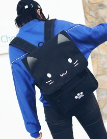 Fashion White Cat Shape Decorated Backpack