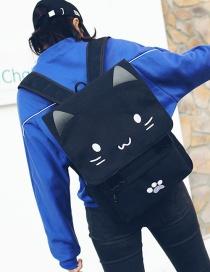 Fashion White Cat Shape Decorated Backpack