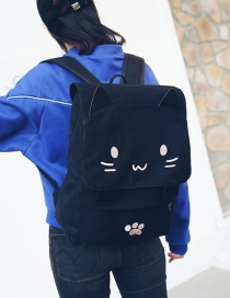 Fashion Pink Cat Shape Decorated Backpack