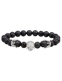 Fashion White Skull Decorated Bracelet