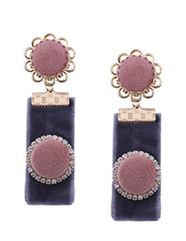 Lovely Pink Color-matching Decorated Earrings