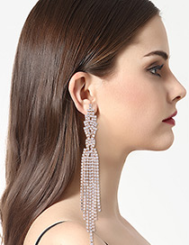 Fashion Gold Color Tassel Decorated Earrings