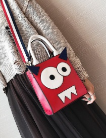 Fashion Red Color Matching Decorated Shoulder Bag