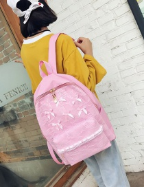 Fashion Pink Bowknot Decorated Backpack