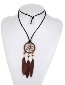 Fashion Brown Pure Color Decorated Necklace