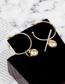 Fashion God Color Circular Ring Shape Decorated Earrings