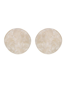 Fashion White Pure Color Decorated Earring