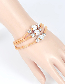 Fashion Gold Color Bead Decorated Multi-layer Bracelet