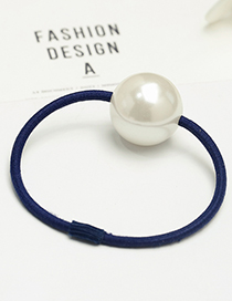 Fashion Navy Big Pearl Decorated Hair Band