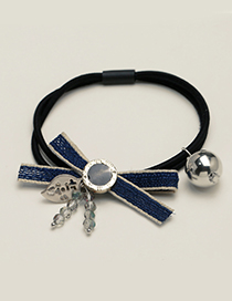 Fashion Navy Bowknot Decorated Simple Hair Band