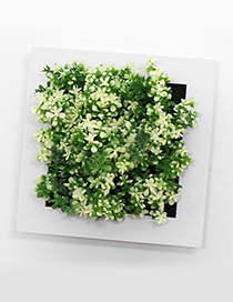 Fashion White+green Simulation Tree Decorated Wall Hanging