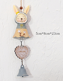 Fashion Yellow+gray Cartoon Rabbit Decorated Wind Chimes