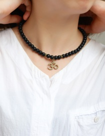 Fashion Black Letter 3d Decorated Simple Bracelet(or Necklace)